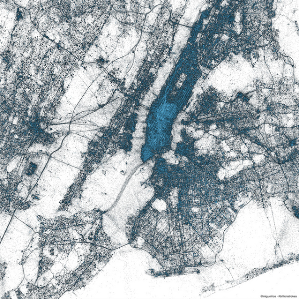 New York City in geotagged tweets