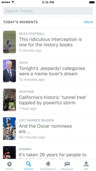 Nova aba Explorar reúne conteúdo relevante no Twitter