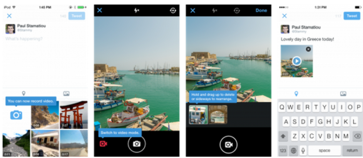 Novedades en Twitter: Mensajes Directos a grupos y grabar vídeo directamente desde la app móvil