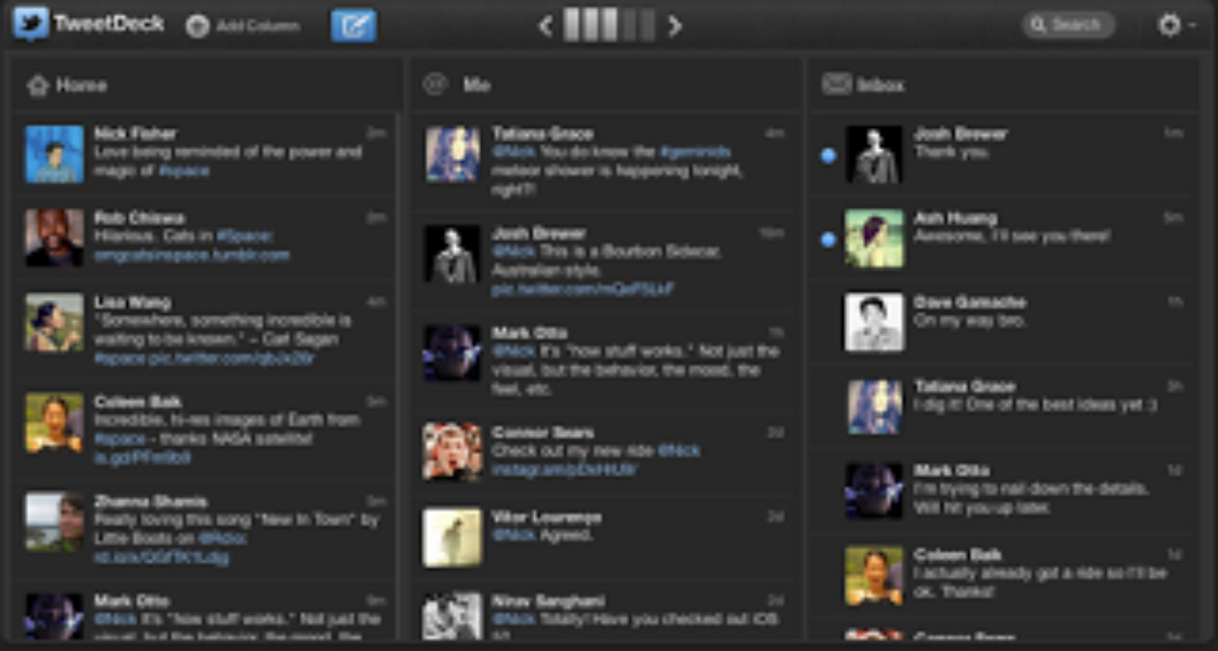 On s'envole: TweetDeck