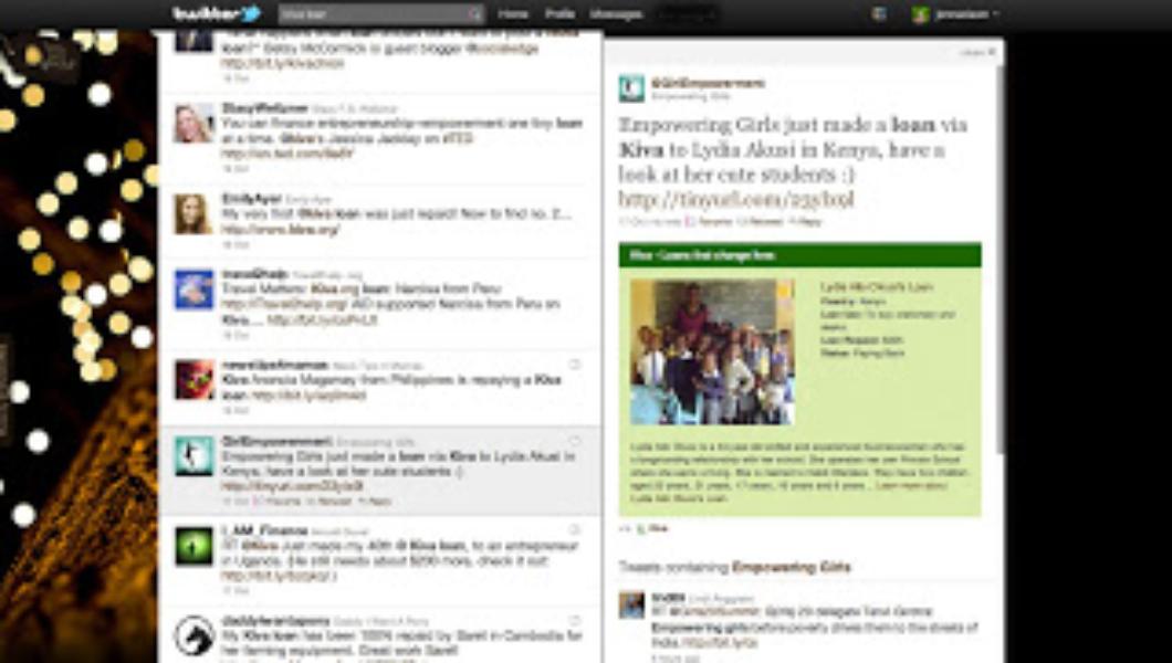 Partenariat Kiva-Twitter