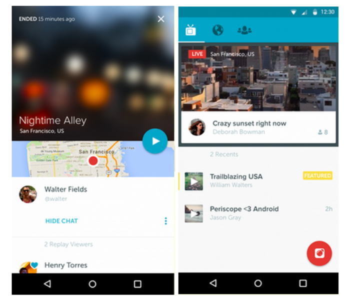 Periscope para Android ya está disponible
