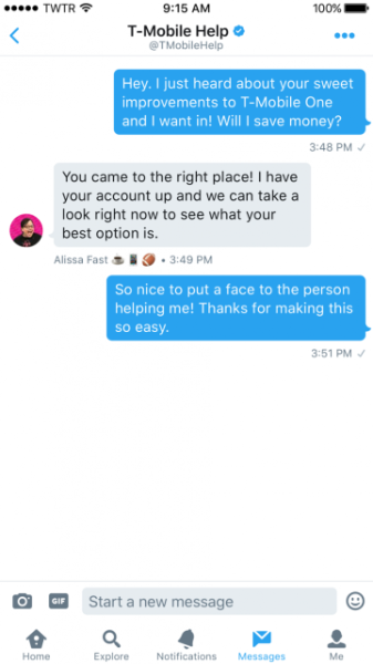 Personalize customer experiences in Direct Messages
