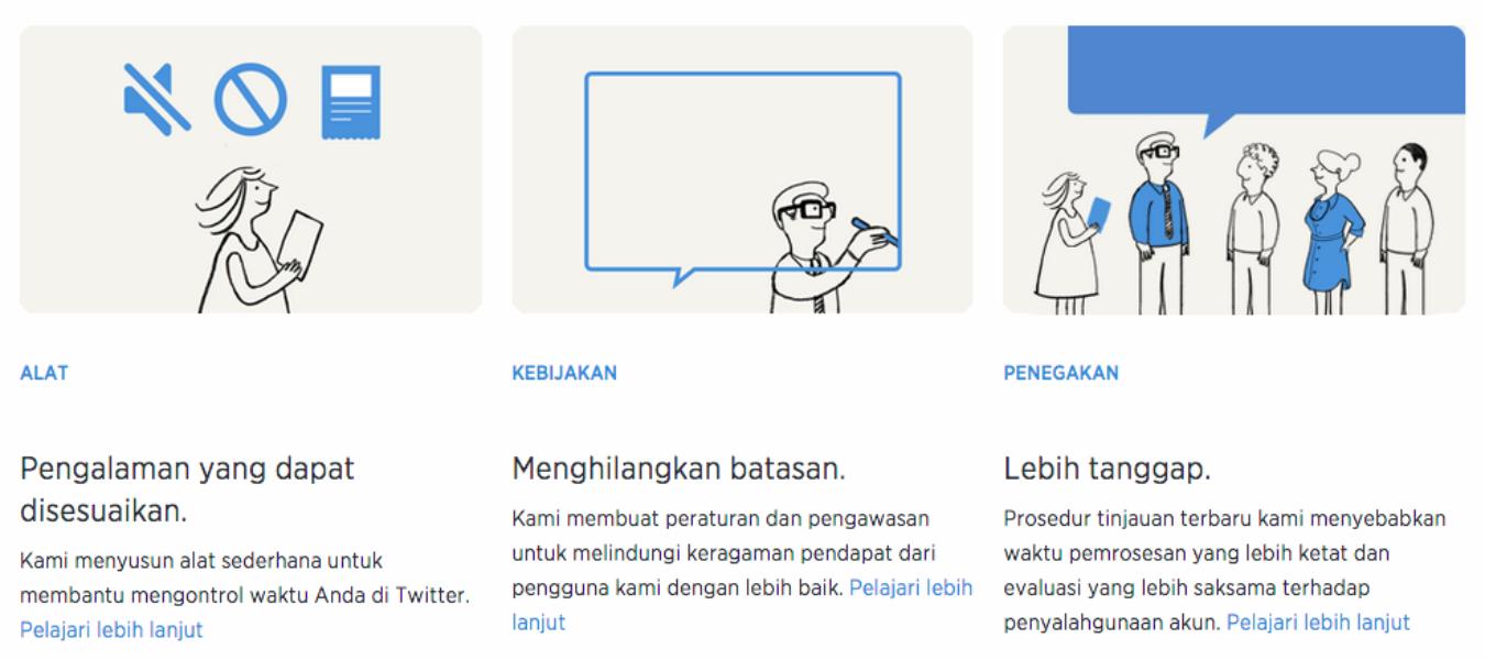 Safety Center Twitter Kini Tersedia dalam Bahasa Indonesia
