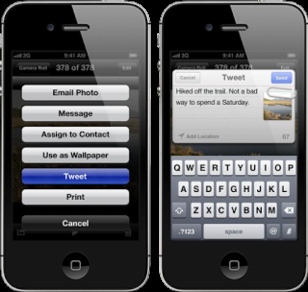 Screenshot do aplicativo para iOS