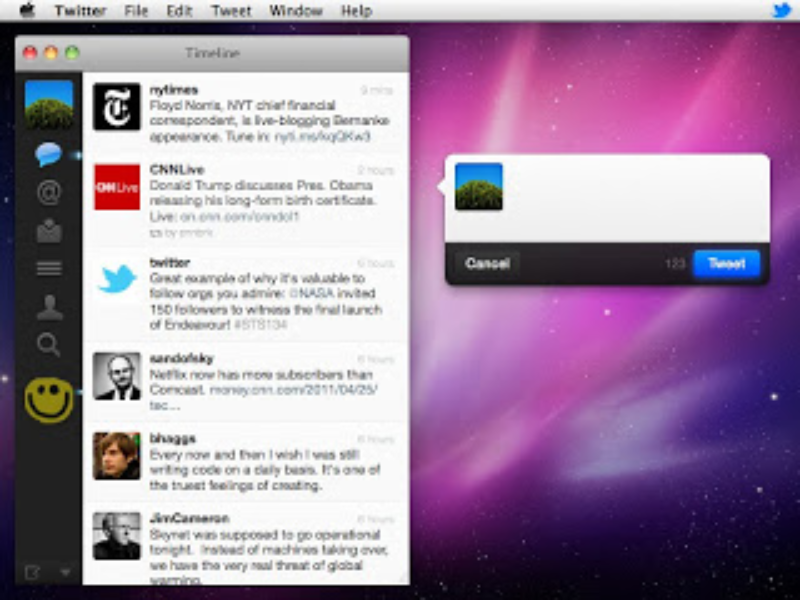 Screenshot Twitter para Mac