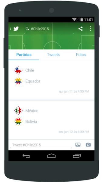 Siga o melhor da Copa América no Twitter