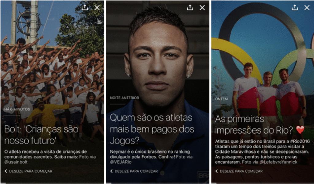Siga os @JogosOlimpicos Rio 2016 no Twitter, Vine e Periscope