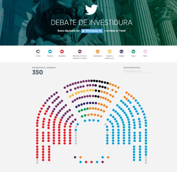 Sigue paso a paso  en Twitter el proceso de investidura en el Congreso