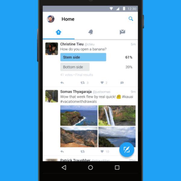 Tampilan Baru untuk Twitter di Perangkat Android