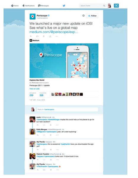 Te ponemos más fácil seguir las conversaciones relacionadas con un Tweet