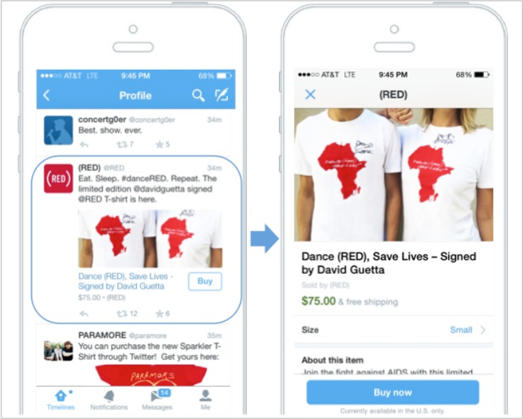 Testing a way for you to make purchases on Twitter