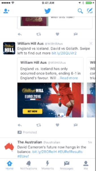 Testing Promoted Tweet Carousel