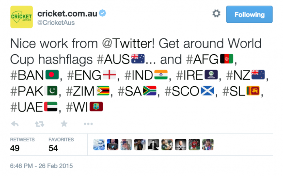 The #CWC15 party goes Trans-Tasman with #AUSvNZ