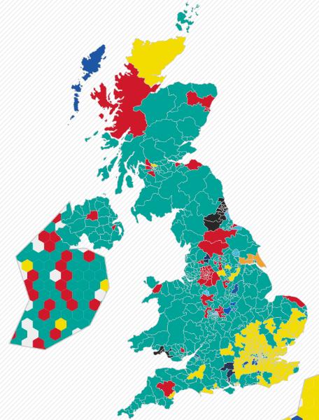The Premier League Follower Map