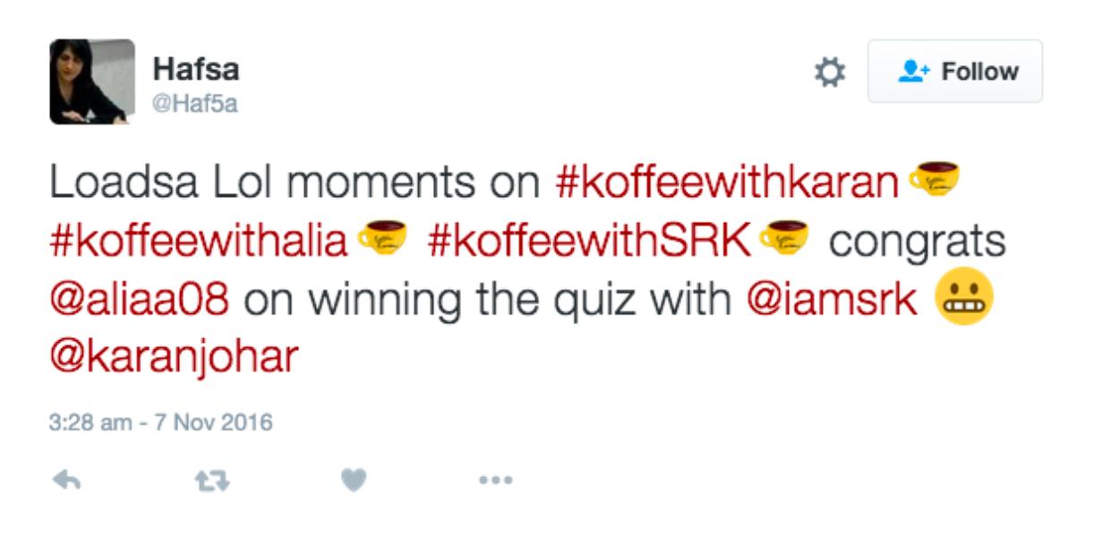 The yellow #KoffeeWithKaran mug delights fans on Twitter