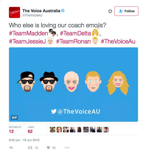 Turn up the volume with new #TheVoiceAU coaches emojis