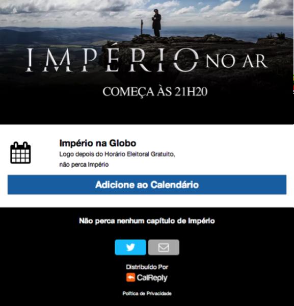 Tweete para não perder nenhum capítulo da novela #Império