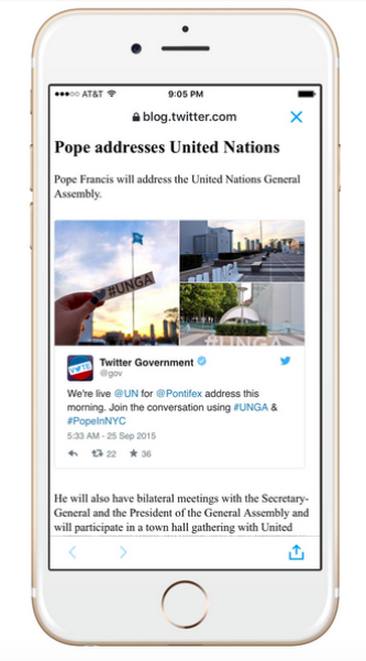 Twitter apresenta o Accelerated Mobile Pages