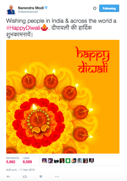 Twitter celebrates the Festival of Lights with #HappyDiwali emoji