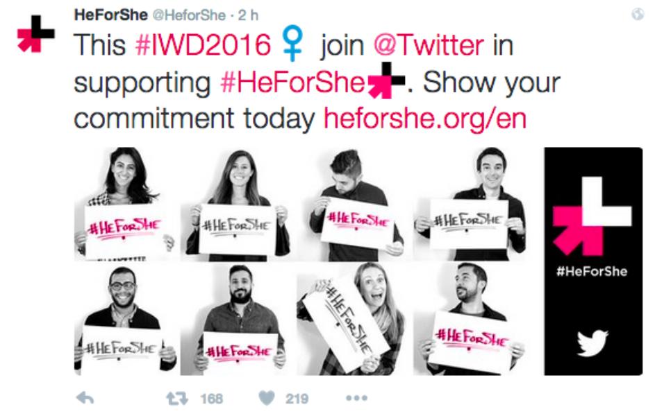 Twitter comemora o Dia Internacional da Mulher