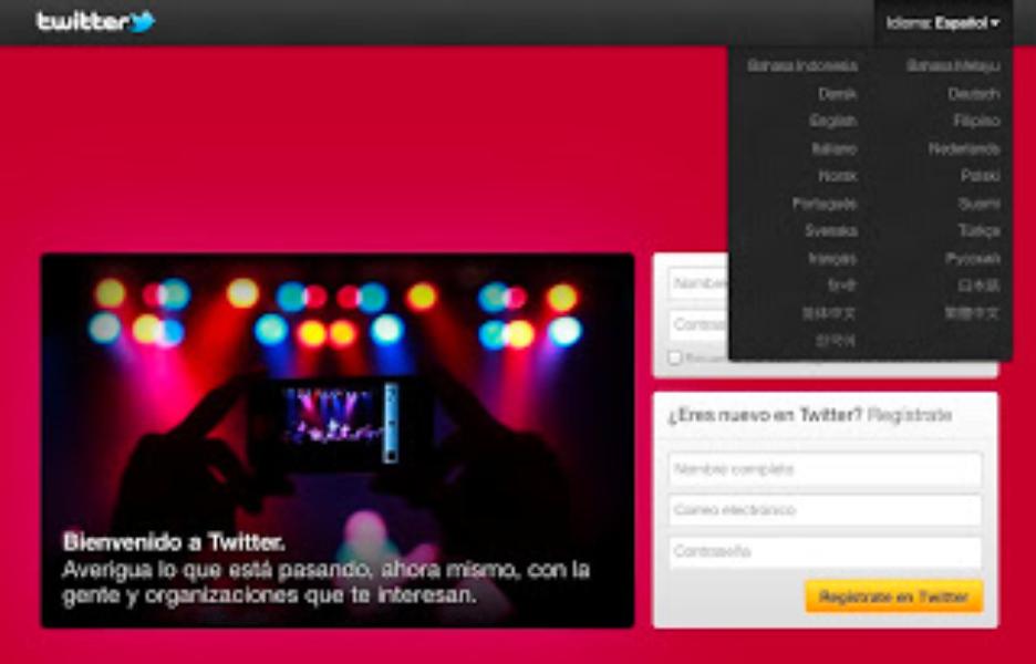 Twitter, en tu idioma