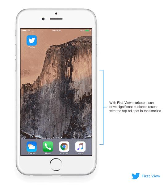 Twitter의 새로운 광고 'First View'를 소개합니다