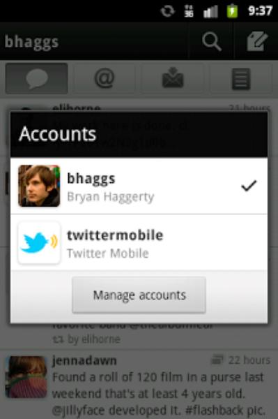 Twitter for Android-プッシュ通知とマルチアカウントに対応
