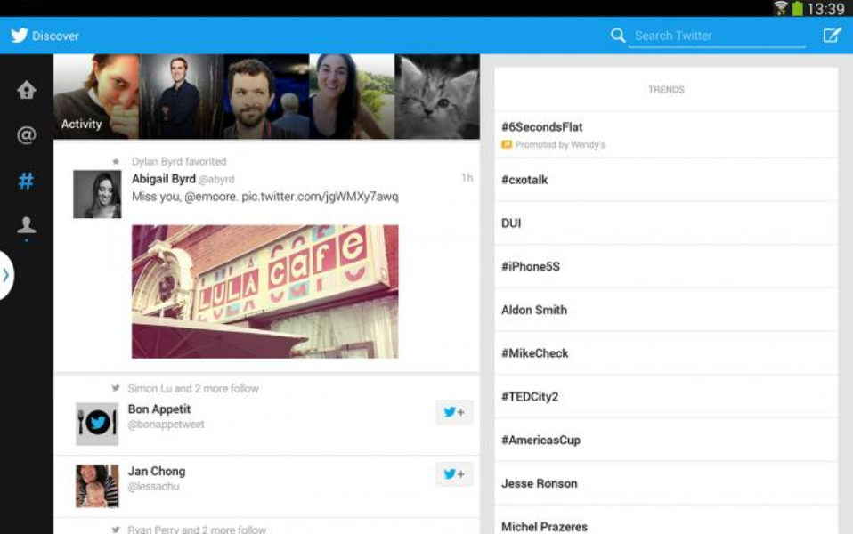 Twitter for Android: Now on tablets