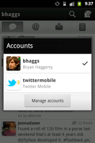 Twitter for Android – Now with Push Notifications and Multiple Accounts