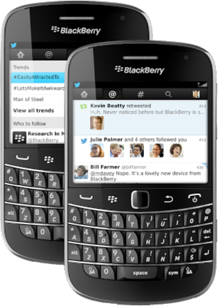 Twitter for BlackBerry 4.0 update: See all the interactions in your network