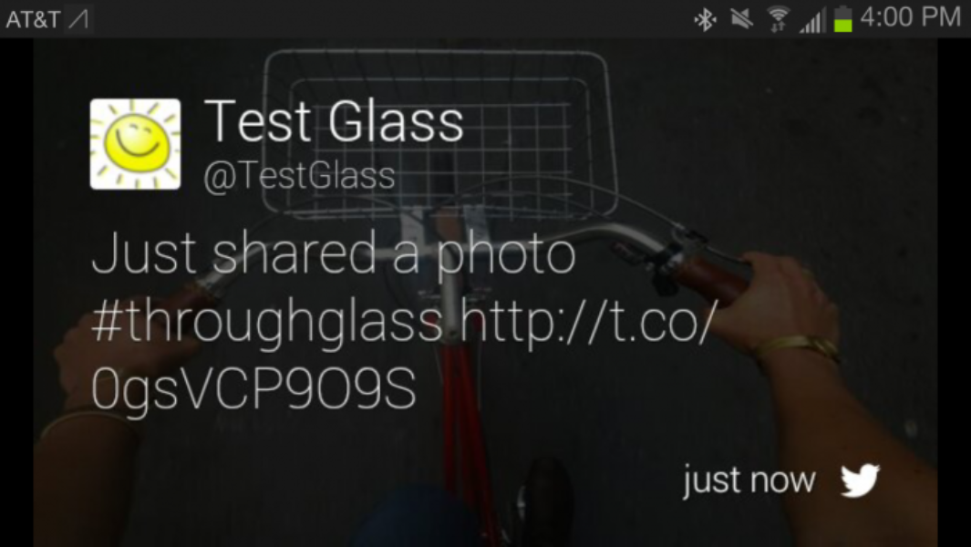 Twitter for Google Glass