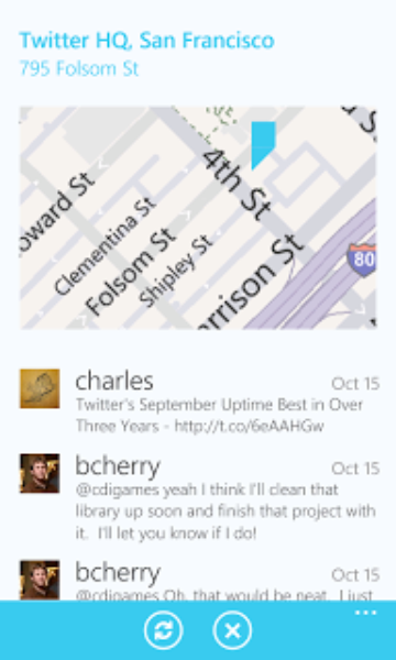 Twitter for Windows Phone: Pivot Power