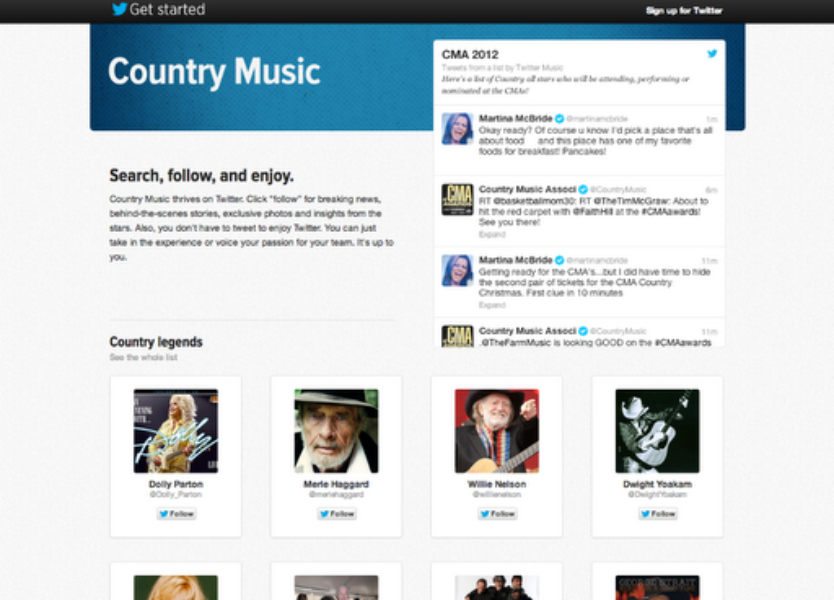 Twitter goes country for the CMA Awards