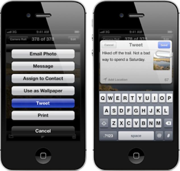 Twitter & iOS 5、共有を簡単に