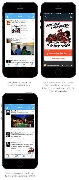 Twitter lança nova maneira de ouvir música e notícia em parceria com Soundcloud