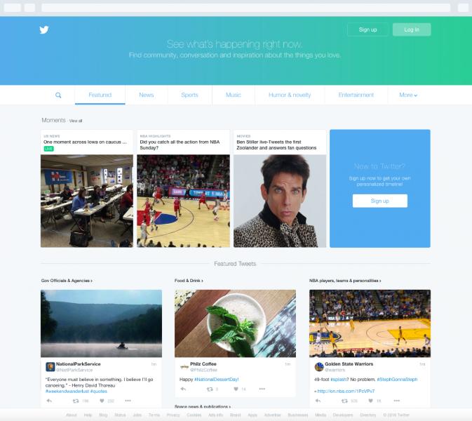 Twitter muda homepage e amplia conteúdo para usuários não logados no Brasil e em mais 22 países