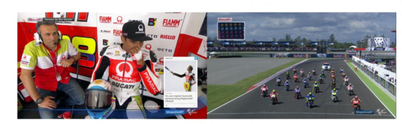 Twitter multiplica la emoción del Campeonato de MotoGP