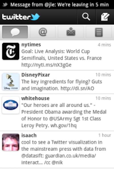 Twitter para Android - Ahora con notificaciones push y múltiples cuentas