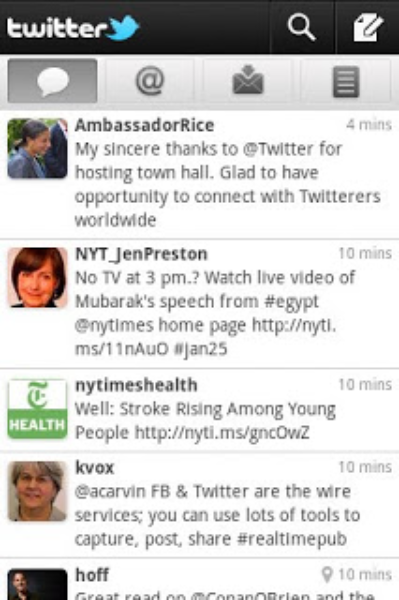 Twitter pour Android