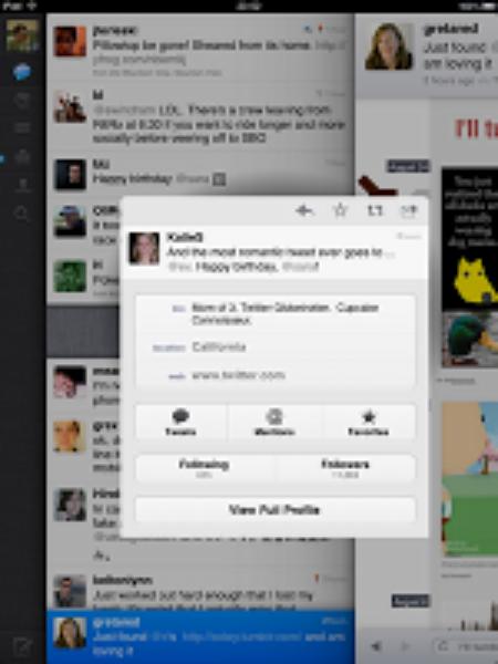 Twitter pour iPad : partager du contenu dans des Tweets