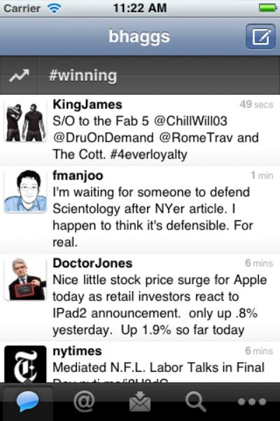 Twitter pour iPhone & iPad : encore mieux