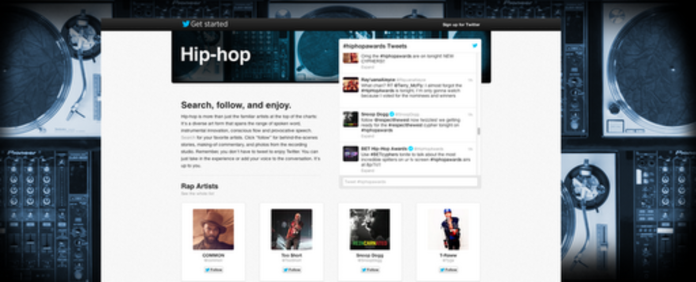 Twitter's hip-hop firmament: #BarsandStars
