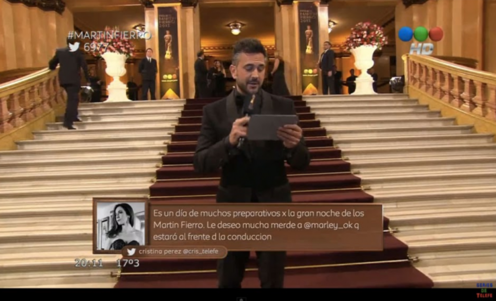 Twitter takes the stage at Argentina's Oscars
