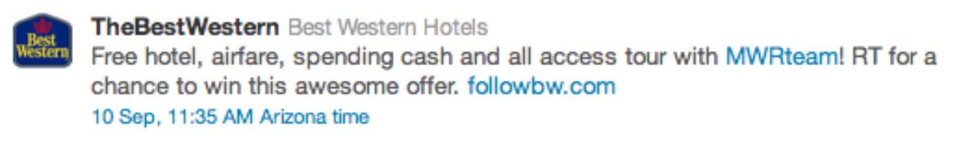 Twitter The Best Western Promoted Tweet