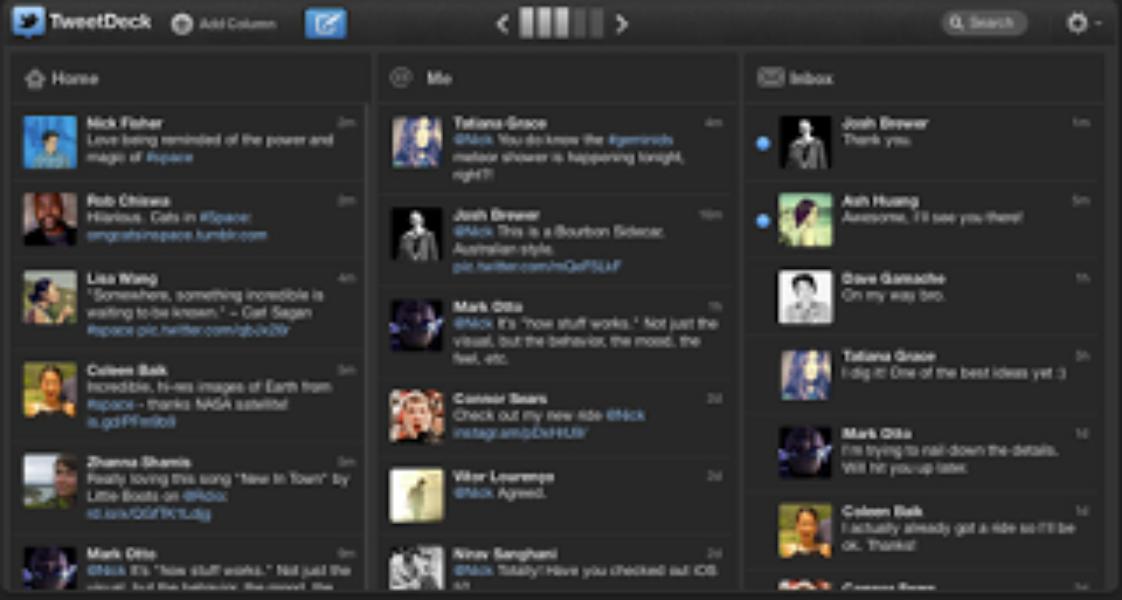 Twitterではばたこう: TweetDeck