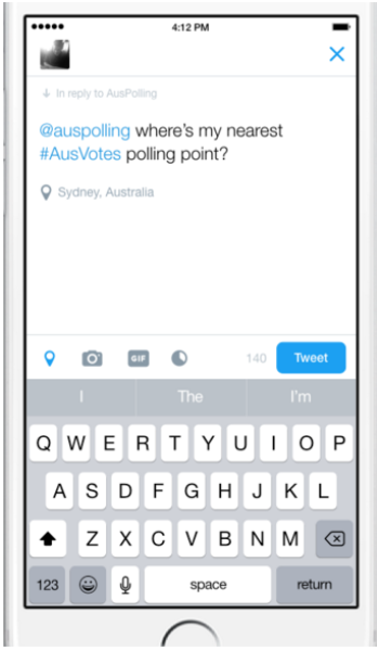 Vote with your Tweet: find your election day polling booth and snag on Twitter