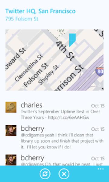 Windows Phone 向け Twitter が登場