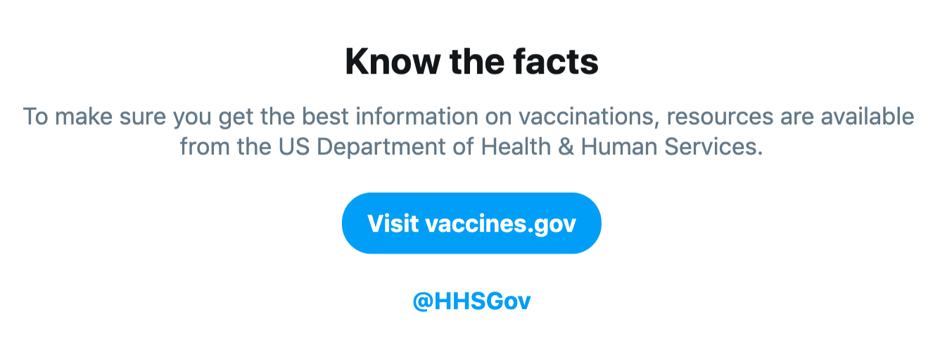 Helping you find reliable public health information on Twitter