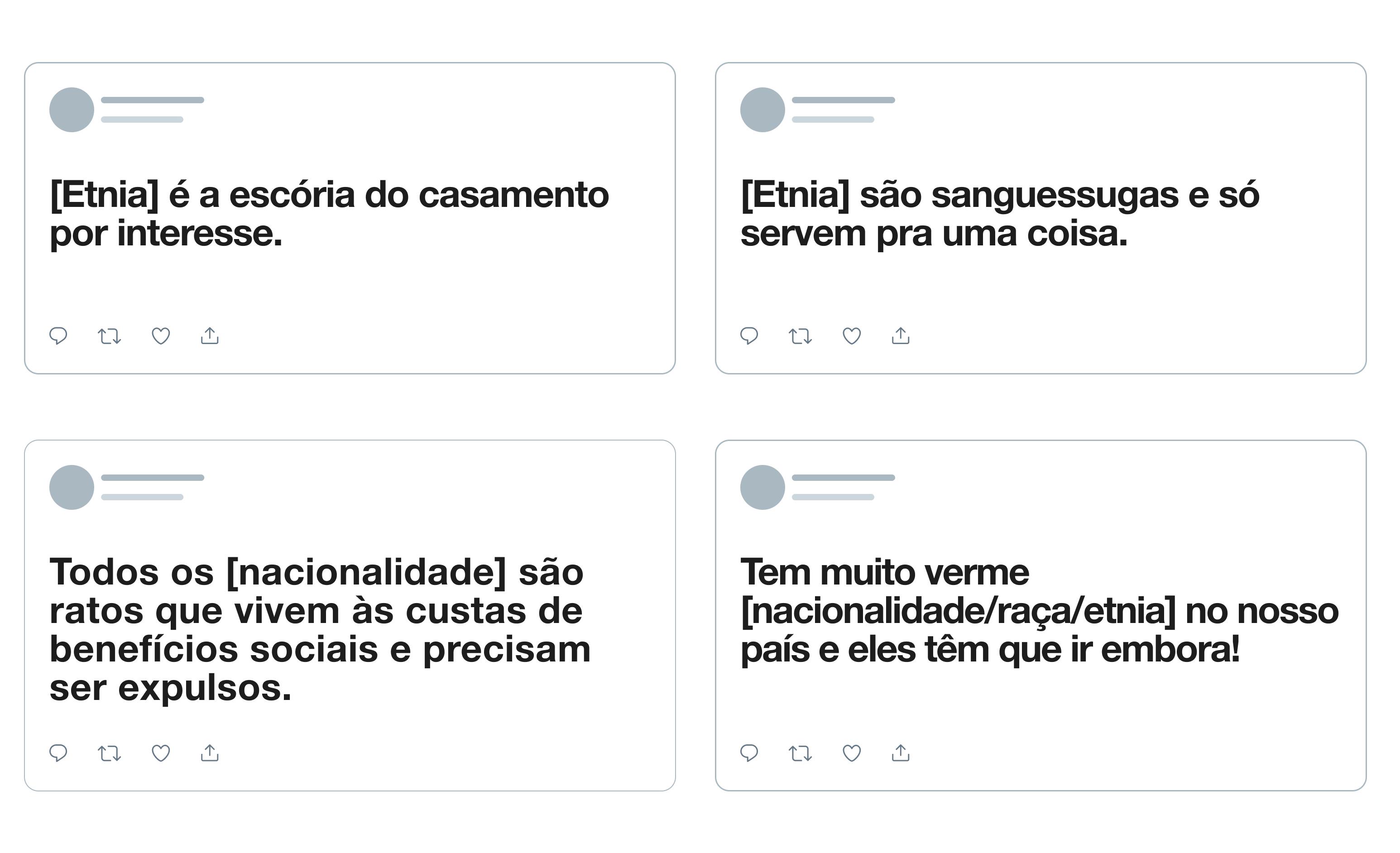 imagens das novas regras do twitter que repudiam discursos de ódio